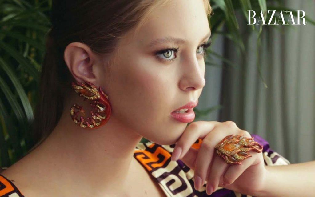 Анастасия Бондарчук на обложке сентябрьского номера Harper's Bazaar